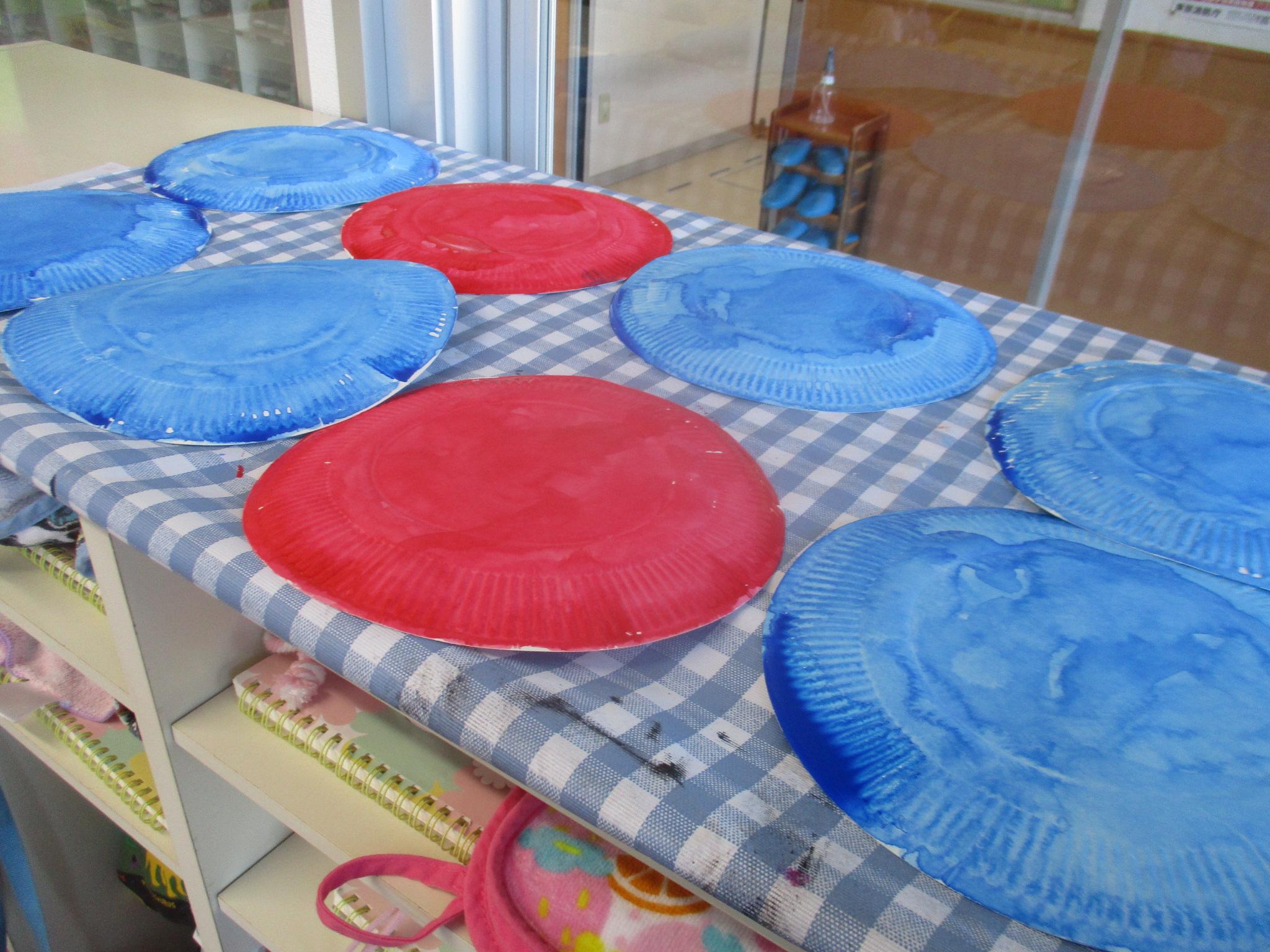 お 紙 の 鬼 面 皿 製作